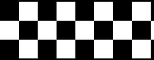 Checkered Flag Cars Nascar Wallpaper Border-4.5 Inch (Black Edge) by ()