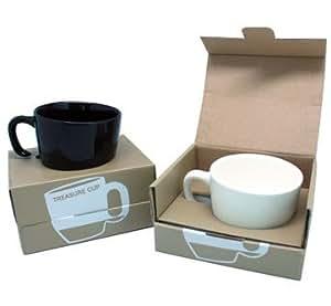 Set of 2 Ceramic Treasure Mugs Black and White by J&Z. Creative Melting Coffee Mugs/Tea Mugs/Tea Cups.