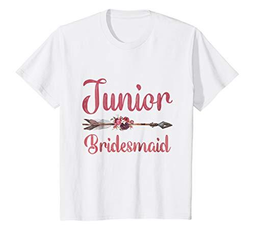 Kids Junior Bridesmaid Shirt Bridal Party Bachelorette Daughter 10 White