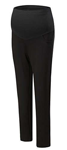 Foucome Summer Womens Maternity Bootcut Stretch Career Dress Pants Work Office Over-Bump Trousers ()