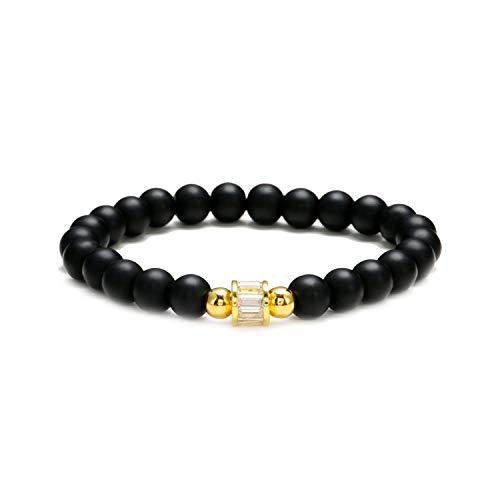 - 6 Mm Natural Stone Bracelets Women Paved Cz Gold Heart Tortoise Ball Geometric Charm Bracelet for Women,D7