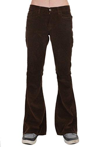 Men's 60's 70's Indie Retro Vintage Brown Corduroy Bellbottom Super - Indie Male Fashion