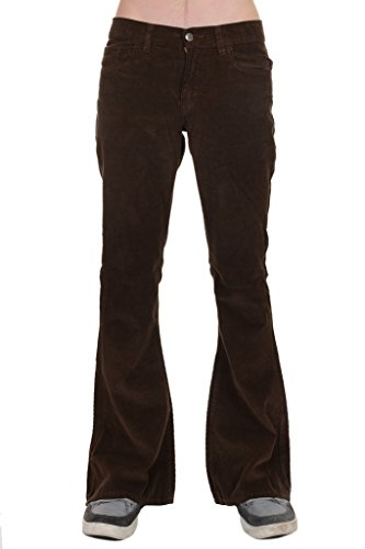 Retro Corduroy Pants (Run & Fly Men's 60's 70's Indie Retro Vintage Brown Corduroy Bellbottom Super Flares)
