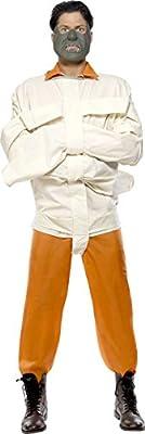 Smiffys Aníbal Naranja del traje de mono y con camisa de fuerza máscara medio: Amazon.es: Juguetes y juegos