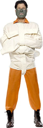 Hannibal Lecter Costume (Orange Hannibal Lecter Silence Of The Lambs Straight Jacket Costume)