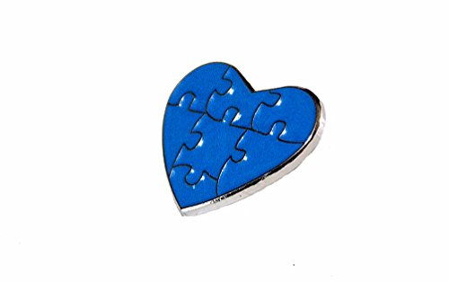 (Autism Awareness Heart Blue Puzzle Pieces Lapel Hat Pins Raise Awareness PPM7304 (1)