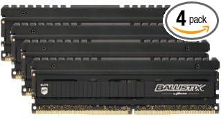 Ballistix Elite 32GB Kit (8GBx4) DDR4 2666 MT/s (PC4-21300) DIMM 288-Pin  Memory - BLE4K8G4D26AFEA
