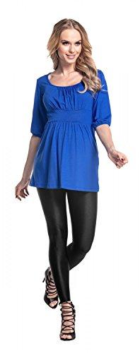 Premaman Top Shirt Maternity Royal Blu 940p T Mama Blusa Donna Tunic Happy Top Comodissimo WqOwv6zzy0