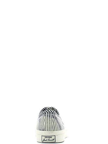 Converse Jack Purcell Por Jack Purcell blanqueado de cambray a rayas zapatillas de deporte Azul