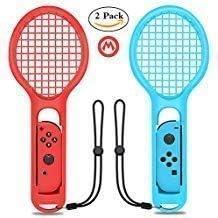 Pala de Tenis para Nintendo Switch Joy-con Controller, Accesorios para Nintendo Switch Game Mario Tennis Aces, Paquete Doble (1 Azul y 1 Rojo): Amazon.es: Electrónica