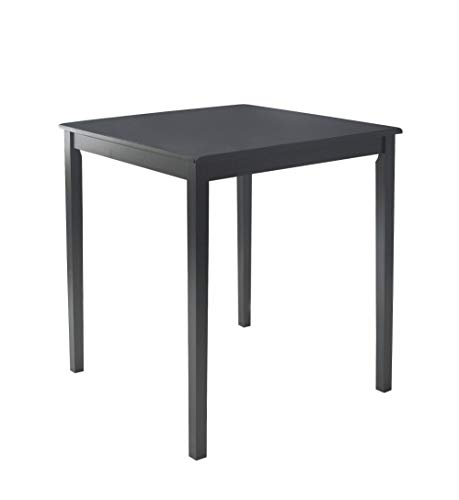 Target Marketing Systems Counter Height Belfast Table with Apron Trimmed Edges and Shaker Shaped Legs, Black