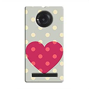 Cover it up Love Spotted Hard Case for Micromax Yu Yuphoria - Multi Color