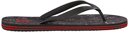 DC Graffik Black Red Sandal Men's White Spray fvxRvr