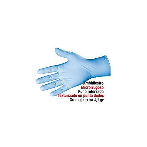 - Caja dispensadora con 100 uds Extra Grande Guantes desechables de nitrilo azul extra Clim Profesional/®