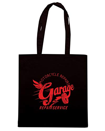 GARAGE TB0433 OLD CAR VINTAGE FOR REPAIR Nera Borsa SCHOOL Shopper Shirt GARAGE Speed nwSICqxvUX