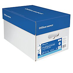 Office Depot Extra Bright Copy Paper, 3-Hole Punched, 8 1/2in. x 11in., 20 Lb., 90 Brightness, Case Of 10 Reams