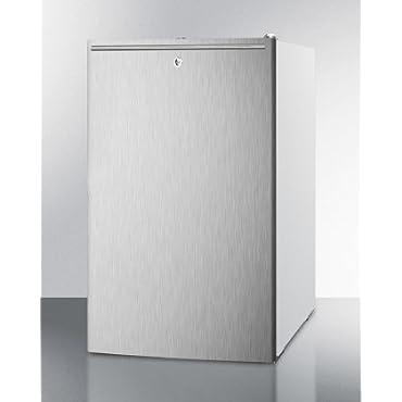 Summit CM411LSSHHADA ADA compliant 20' wide freestanding refrigerator-freezer