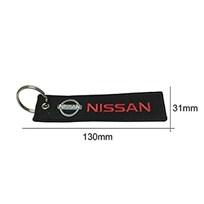 Teratai 1pcs Nissan Tag Keychain For Car Keychain Accessories Sporty Gifts: Office Products