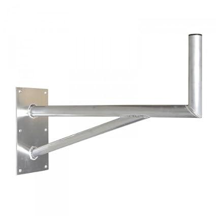 PremiumX 80cm SAT Halterung mit Stützelement ALU Auslegerlänge 800mm Auslegerhöhe 300mm Grundplatte 400x200mm Wand Montage Ha