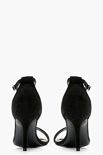 Schwarz Damen Tia Zweiteilige Sandalen Mit Weiter Passform Und Niedrigem Absatz Schwarz