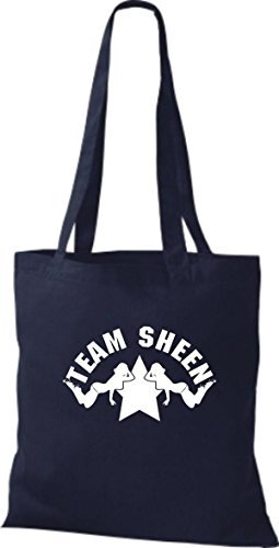 Shirtinstyle - Cotton Fabric Bag Women - French Navy