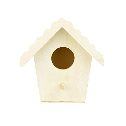 (Yeefant 1Pcs Creative Wall Mounted Nest Bird House Wooden Outdoor Box,0.31x0.30 Ft)