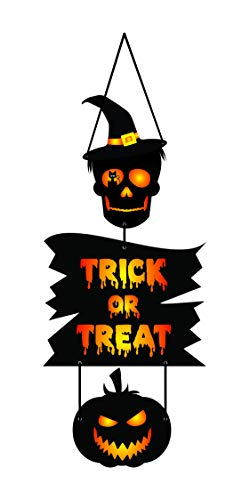 Halloween Party Supplies| Skull Door Sign|Haunted House Decorations| Skull Decorations|Halloween Party Supplies Decorations|Halloween Skull décor|Skull Halloween décor| Day of The Dead Door Sign ()