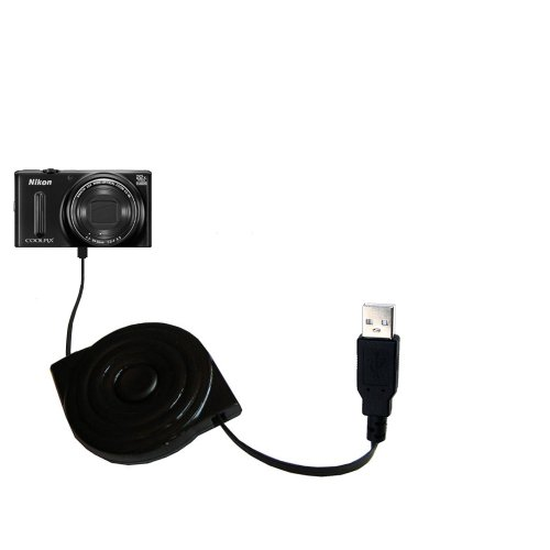 compact and retractable USB Power Port Ready charge cable designed for the Nikon Coolpix S9700 and uses TipExchange