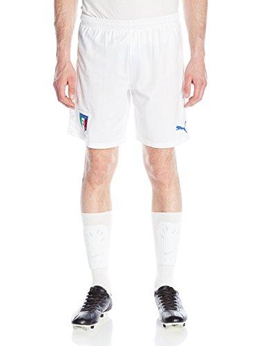 Puma Striped Shorts - Puma Men's Figc Italia Replica Shorts, White Team/Power Blue, Small