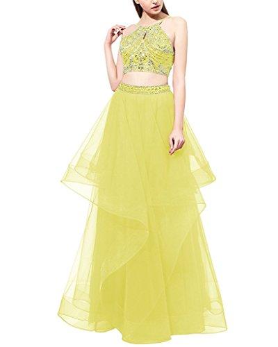 Ysmo - Vestido - trapecio - para mujer amarillo