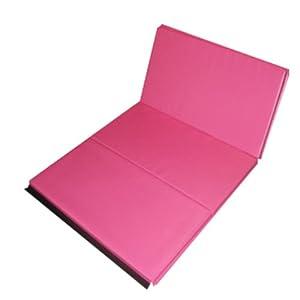 The Beam Store Pink 2 Inch Folding Gym Mat (4 x 6 Feet)