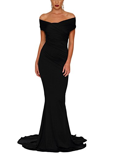 long black fitted dress - 6
