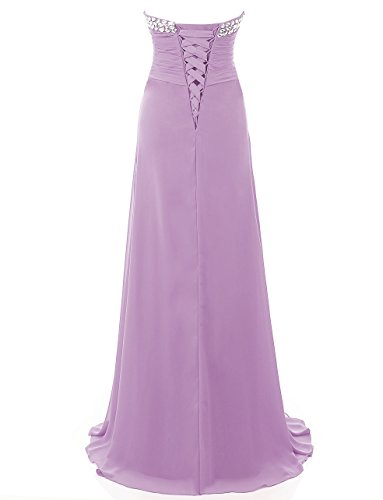 Brautjungfer Damen Formales Abend Kmformals Lang Lavendel AbendKleid Kleider Prom nFqdRWp