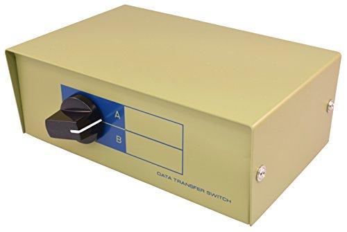 PTC Premium VGA/SVGA 2-Port Data Switch - 1 Computer to 2 Monitors or 2 Computers to 1 Monitor