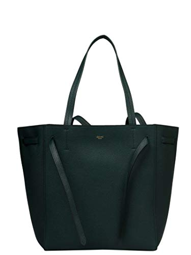 (Céline Women's 189023Tni31an Green Leather Tote)