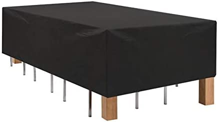 ZWJ-Muebles Jardín Cubierta Fundas para Muebles De Ratán De Jardín Cubierta De Mesa Cuadrada Impermeable A Prueba De Polvo del Jardín, Negro (Color : Black, Size : 110x110x85cm): Amazon.es: Hogar