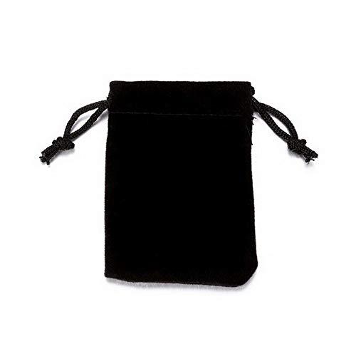 (Florance jones Drawstring Pouch Bag Velvet Wedding Black Gift Bags for Ring Earrings Bracelet | Model BRCLT - 45282 | 7.55)
