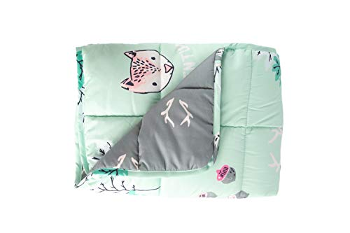 Weighted Blanket for Kids 5 Lbs - 36x48 - Calming Blanket for Children with Anxiety, Insomnia, ADHD, ASD - Kids Weighted Blanket Machine Washable - Mint Green