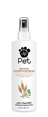 John Paul Pet Oatmeal Conditioning Spray for Dogs and Cats, Sensitive Skin Formula Soothes and Moisturizes Dry Skin and Fur, Non-Aerosol, 8-Ounce