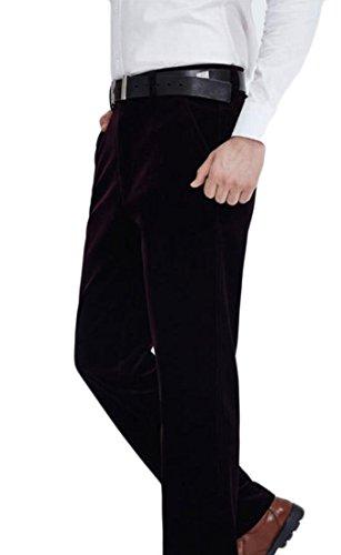 Qiangjinjiu Men's Bedford Corduroy Straight Fit Plain Front Pant 8 32 Bedford Corduroy Pants