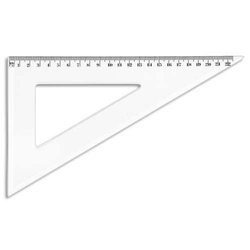 JPC Créations 956545 - Squadra 60°, 21 cm, trasparente JPC CRÉATIONS 121006800