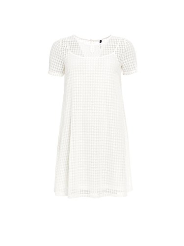 Smash Crispa, Vestido Casual para Mujer Blanco (White)