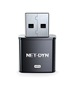 Mini USB Wireless WiFi Adapter, Top Internal Antenna Model, 300Mbps, Twice the Strength of the Standard Mini Wireless Internet Dongle, by NET-DYN