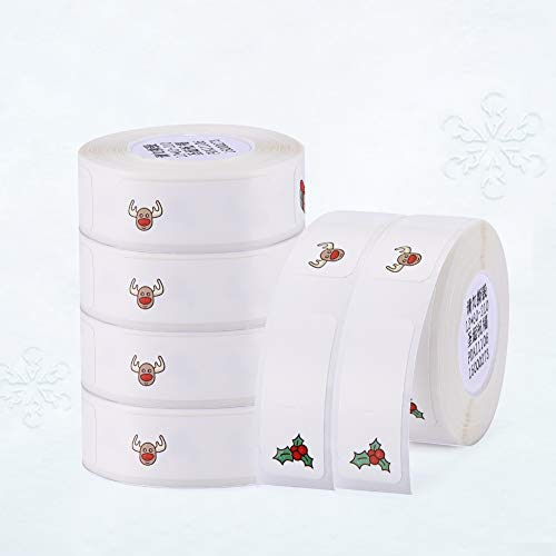 Thermal Label Printer Sticker for D11 Label Maker (15×30mm 1 Roll, White)
