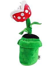 WINBST Piranha plant, pluche figuur zacht speelgoed knuffel pluche figuur pluche speelgoed Super Mario piranha pop