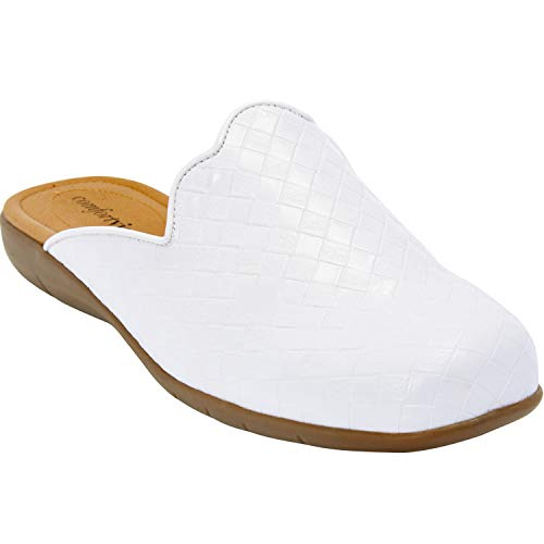 Comfortview Women's Plus Size The MYA Mule - White, 9 1/2 -