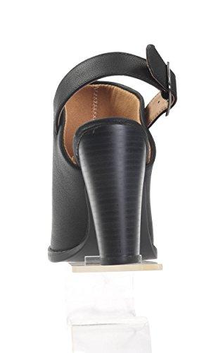 Stivali Da Donna Con Cinturini Alla Caviglia A Punta Hadari Con Tacco Piattaforma 3,5