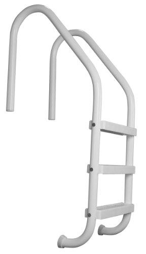 SAFTRON White 3-Step In Ground Swimming Pool Ladder - P-324-