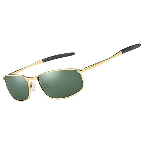 Green Feidu 9005 Métal Polarisées gold En Fd De Homme Sport Nuances Conduite Hd Cadre Soleil Pour Lunettes Objectif SaZSnW