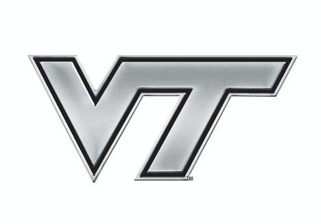 Virginia Tech Auto - Stockdale NCAA Virginia Tech Hokies Chrome Auto Emblem